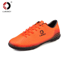Leoci Men Boy Soccer Shoes Cleats Outdoor Hard Court Football Shoes Training Sneakers For Trainer Sport Chaussures De Foot 33-45