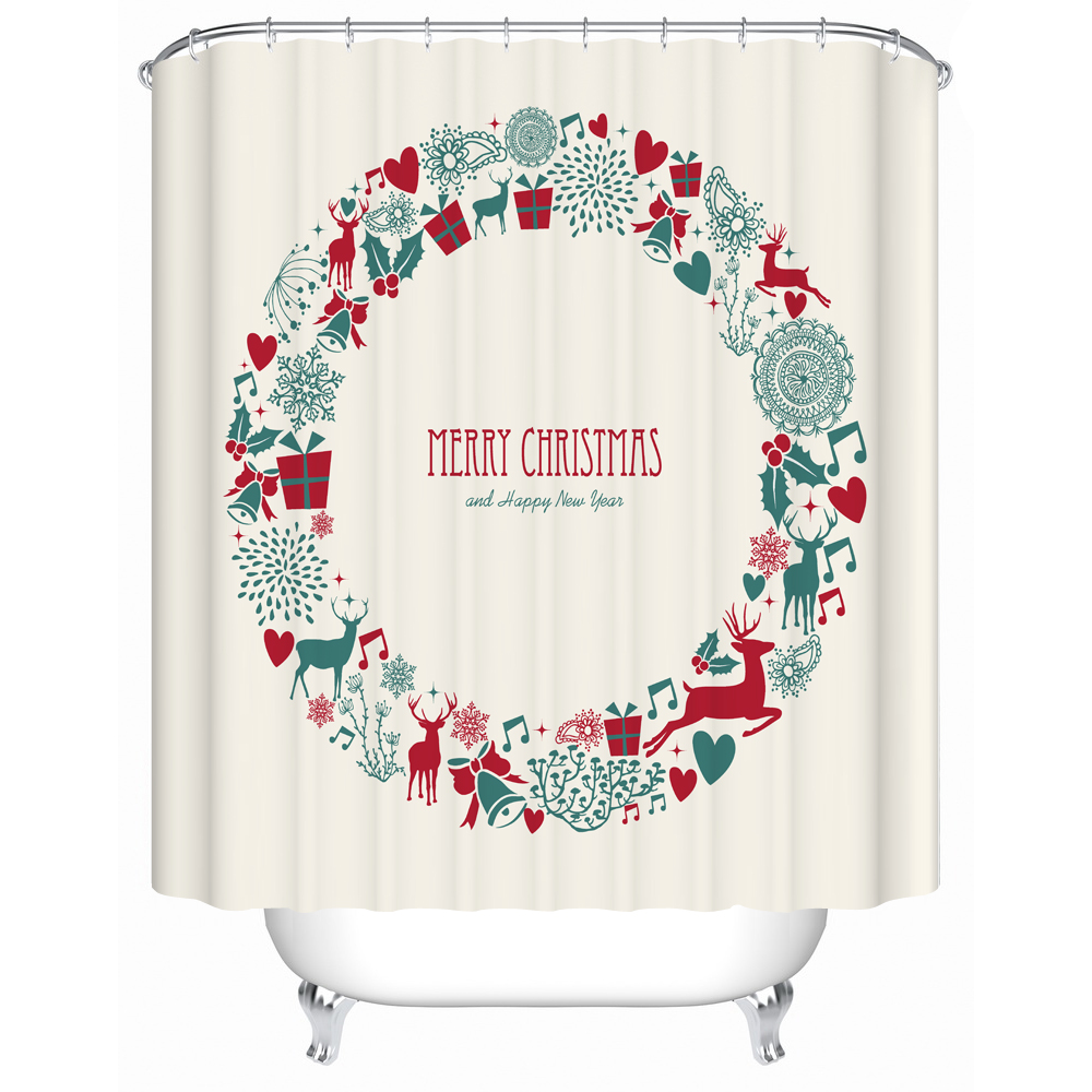 online buy wholesale christmas shower curtain from china christmas shower curtain wholesalers. Black Bedroom Furniture Sets. Home Design Ideas