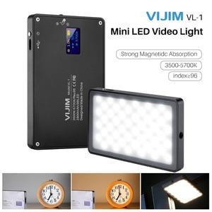 Image 1 - VIJIM VL 1 96 cuentas regulable luz LED para vídeo con pantalla Oled en la Cámara de luz de estudio de fotografía 3500k 5700k 2800mAh Luz de relleno