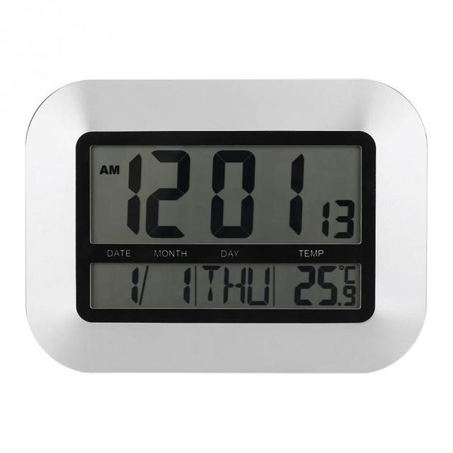 Digital LCD Thermometer Electronic Temperature Indoor Outdoor Tester Wall  Tabletop Alarm Clock