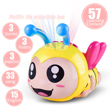 Купить с кэшбэком Bee Light Projection Rattles Baby Toys 0-12 Months Educational Toys Music Toys For Newborns Rattles Baby Toy Mobile For Baby Cot