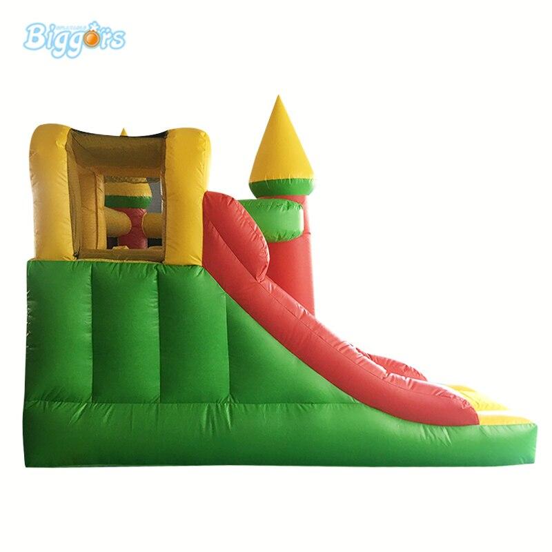 Maison gonflable combinée de rebond de château plein d'entrain gonflable de PVC de la cour 0.55mm avec la glissière - 5