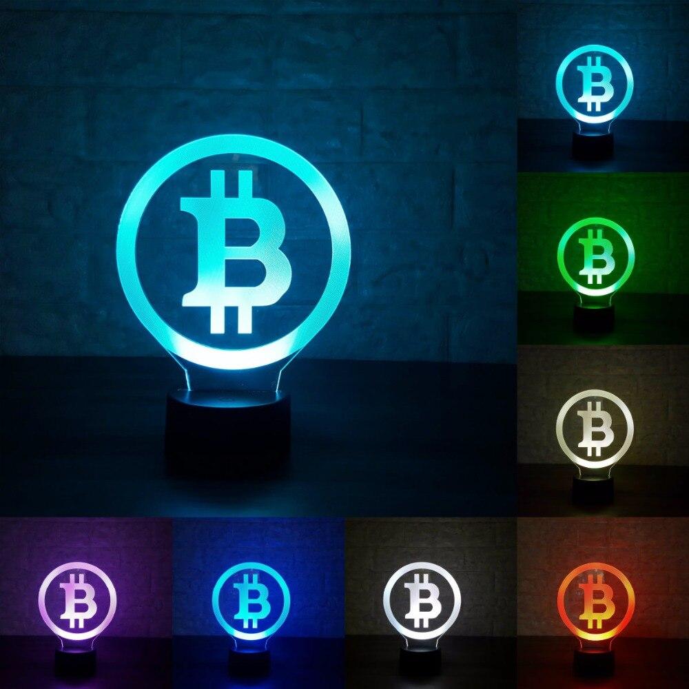 3D LED Bitcoin Lamp (Type 2)