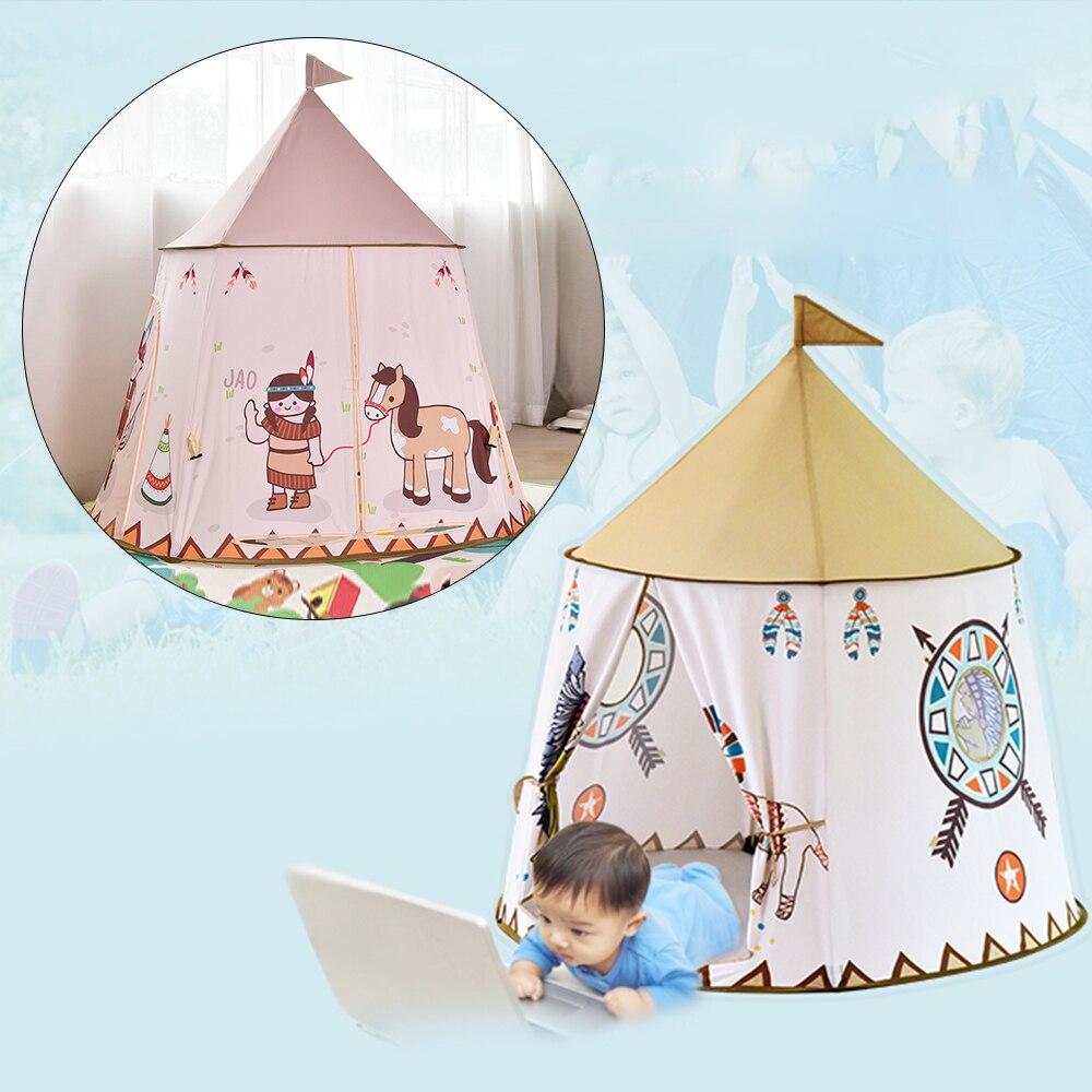 Portable enfants tente Carton Lions enfants tente balle piscine pliable Pop Up infantile jouer Tipi jouer maison intérieur jeu tente