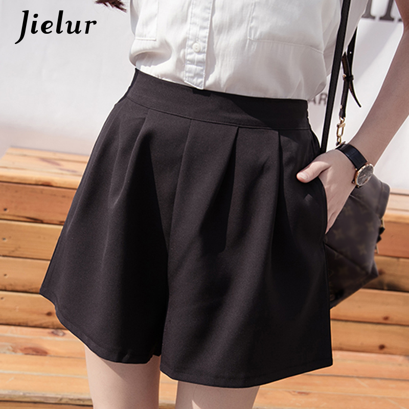 Jielur Shorts Ladies Plus-Size Pantalones Elastic Casual Korean Women Ulzzang Pocket