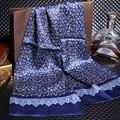 160*28 cm 2016 de la moda famoso de la marca 100% Bufanda de Seda de los hombres Nuevo Estilo Masculino Bufandas Impreso Otoño Invierno collar cachecol cape