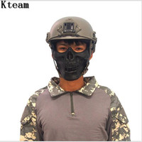 M03 Skeleton Masks Military Paintball Ghost Tactical Balaclava Halloween Airsoft Skull Protection Army Shooting Half Face Mask