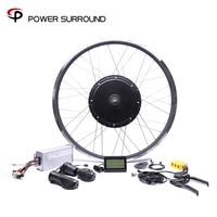 11.11 2019 Free shipping 48V 1500W rear Motor Bicicleta Electric Bicycle eBike Conversion Kits for 20''26''28''700C motor wheel