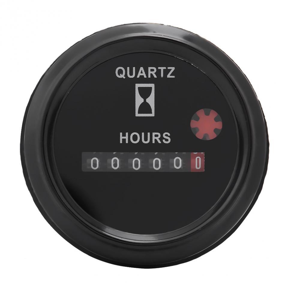 dc 12 36v 6 digit accurate round quartz hour meter timer. Black Bedroom Furniture Sets. Home Design Ideas