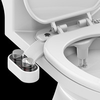 Non Electric Bidet Toilet Seat Bidet Attachment Self Cleaning Nozzle Fresh Water Bidet Sprayer Mechanical Muslim Shattaf Washing