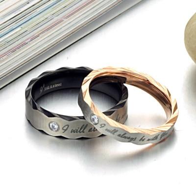 แฟชั่นใหม่แหวนเข้ากันได้กับpa, titaniumเหล็กcoupaleแหวน,แหวนสร้างสรรค์