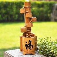 Водная история бамбуковый креативный свадебный подарок, украшение для гостиной, аксессуары для дома, мебель, пейзаж, украшения для фонтана