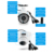 Reolink RU 2-pack 4MP Câmera de CCTV Sistema de Vigilância IP PoE HD Vídeo e Áudio Bala Cúpula Cam Rede RLC-4120