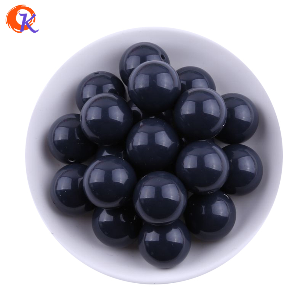 S71 20MM 100pcs Deep Royal Blue Chunky Bubblegum Acrylic Solid Beads Chunky Beads For Jewelry CDWB-517543