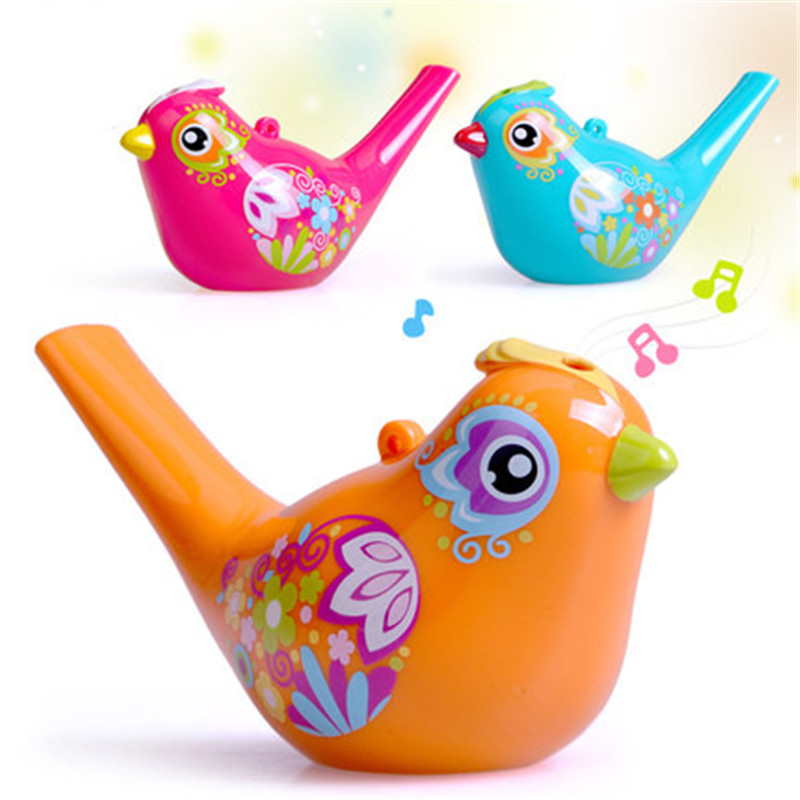 Hot Sale Funny Bath Toy 1PC Creative Simulation Bird Calls Add Water Whistle Children Baby Swim Toys Random Delivery random delivery baby funny wooden toys developmental dancing standing rocking giraffe animal handcrafted toys