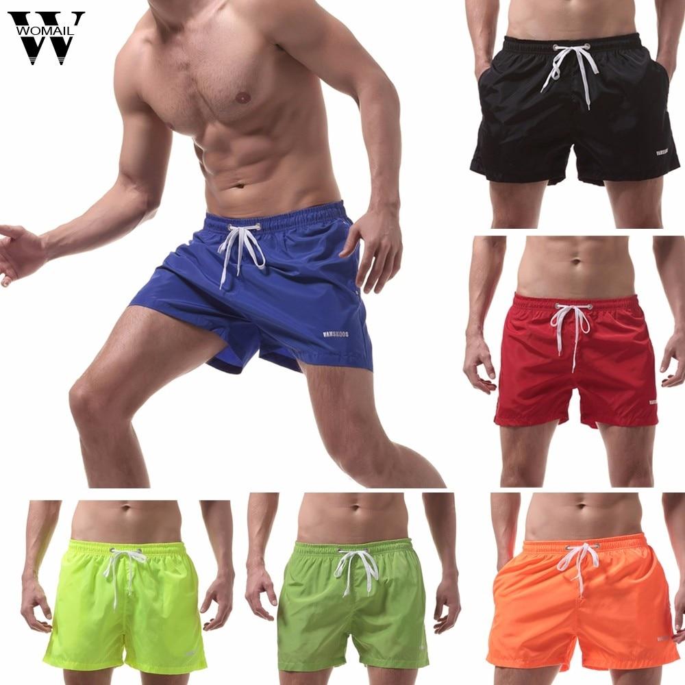 Womail Men Swimwear Short Short Summer Swim Trunks Quick Dry Beach Surfing Run Swim Watershort Short Deporte2019 Dropship J28