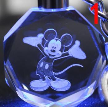 Брелок светодиодный кристалл Микки Маус в ассортименте 1