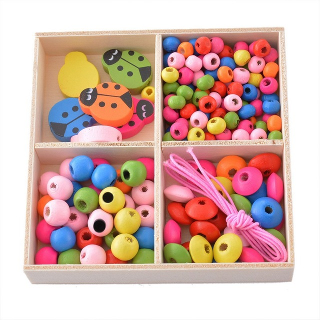 DIY Multicolor Wooden Beads Kit
