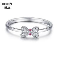 Уникальные он Книги по искусству SOLID 14 К Белое золото природных алмазов ruby Обручение обручальное кольцо Юбилей Для женщин Ювелирные украшен