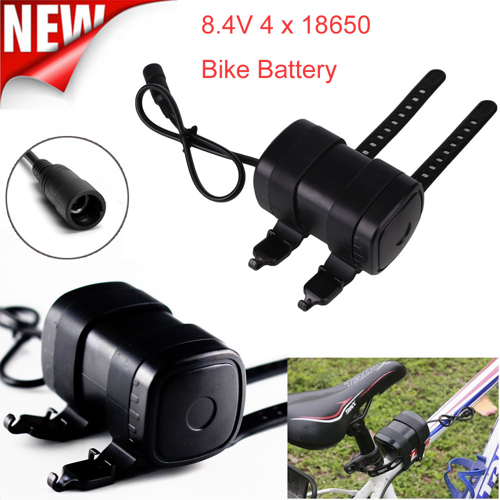 MUQGEW Newest 8.4V USB Rechargeable 6000mAh 4X18650 Battery Pack For Bicycle light Bike Torch Waterproof Battery For Bicycle rechargeable 8 4v 4400mah 18650 battery pack for bike light black