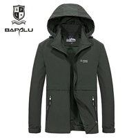 Spring Autumn Thin Jacket Men Solid Color Breathable lapel European and American style Jacket Men's Casual Hooded Jacket Coat