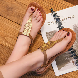 2019 Brand Flat Beach Sandals Women Sandals Ladies Slippers Bohemian Sandles Female Flip Flops Summer Shoes Woman sandales femme 5