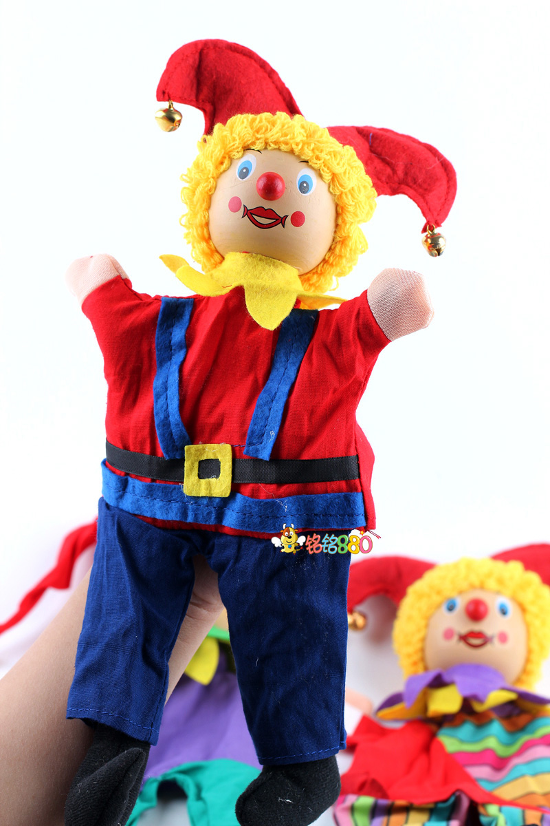 2pcs/lot baby clown hand puppets/ big size Kids Child