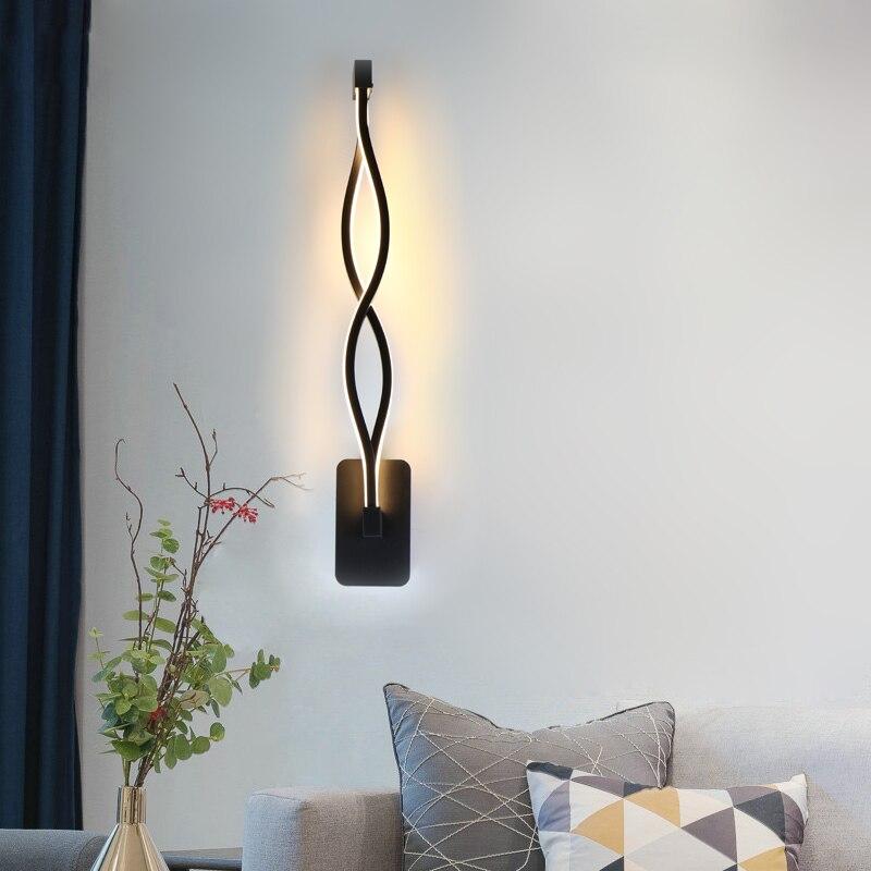 Lampada 16W CONDUZIU a Lâmpada de Parede do Quarto Ao Lado de Luz de Parede Para Casa Decoração de Interiores Iluminação Corredor Alumínio Arandela AC90-260V