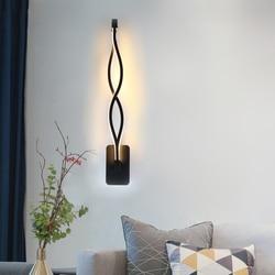 16 Вт светодио дный настенный светильник Лампада Спальня рядом настенный светильник домашние освещение украшения коридор Алюминий бра ...