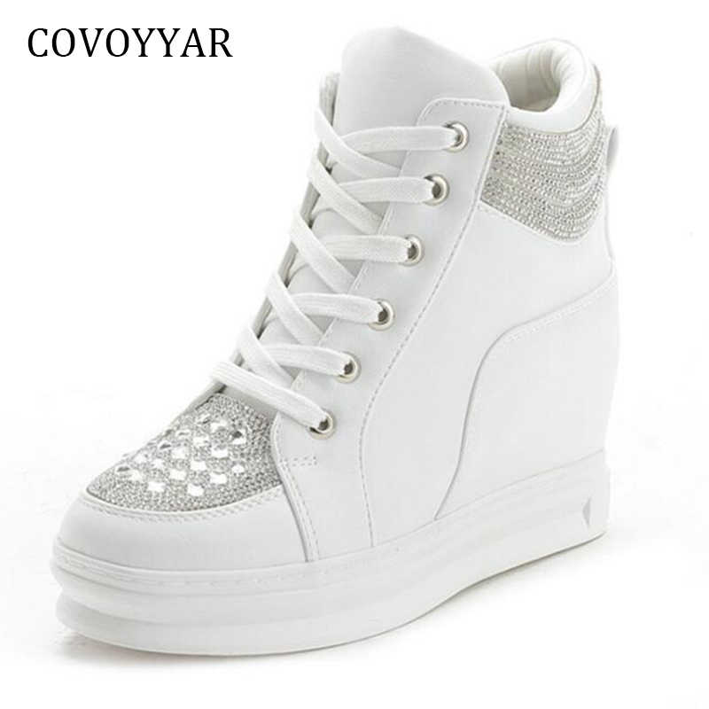 12bef70c47 Detail Feedback Questions about COVOYYAR Rhinestone Women Sneakers ...