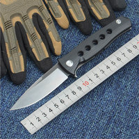 High Quality 58 60HRC D2 Blade Steel G10 Handle Bearing Folding Knife Camping Hunting Survival Tactical