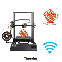 2018 BIQU Thunder 3D Printer Metal i3 Large Size Touch Screen Mk8 CR-10S Extruder Impresora Drucker Parts Desktop