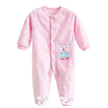 d2debf963923 0-12M Autumn Fleece Baby Rompers Cute Pink Baby Girl Boy Clothing Infant  Baby Girl Clothes Jumpsuits Footed Coverall GL001740695