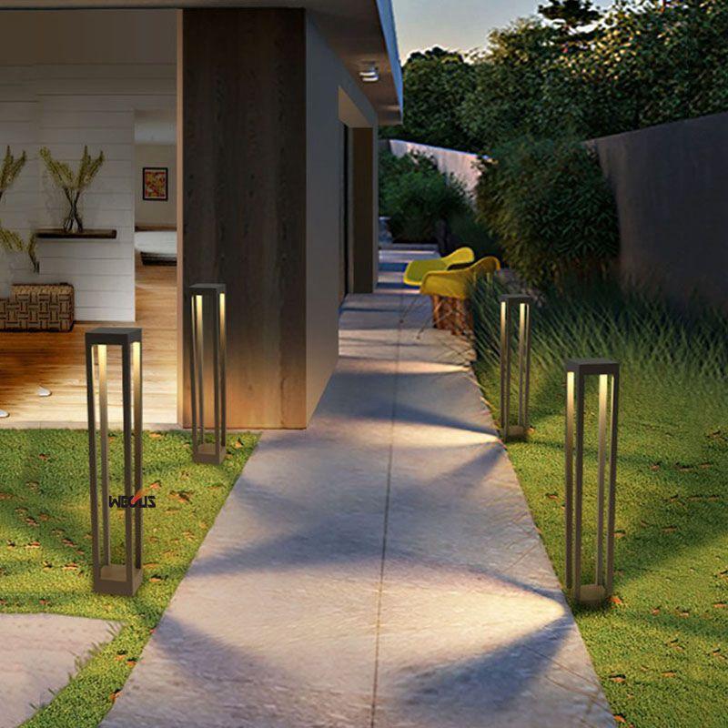 Lampa de gazon pătrată din aluminiu, a condus lumini moderne de - Iluminat exterior - Fotografie 6