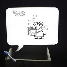 DIY Message light box LED A4 Lovely Shape Handwriting Board Table Desk Lamp Christmas Holiday Decoration for Home Kids Girl Gift(China)