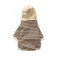 pet clothes futbol cotton sport pet pug collar striped shirt hondenkleding dachshund Comfortable manteau chien hiver A011