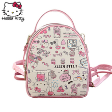 Hello Kitty Cute Cartoon Bag hellokitty Fashion Women Single Shoulder PU Leather Cute Cartoon Pink Kids SchoolBag Plush Gift подвеска hello kitty hnl1704chc hellokitty