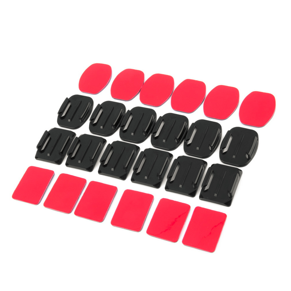 In stock! 24Pcs Well-made Mixed Helmet Flat Curved Adhesive Mount For Gopro Hero 1/2/3 /3+ Newest