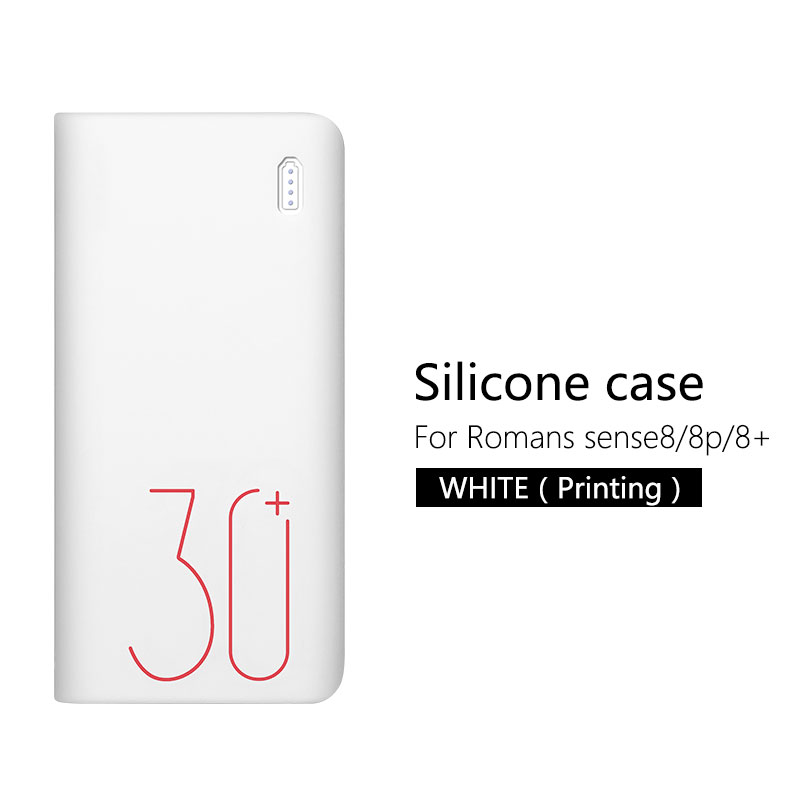 Силиконовый чехол для Romoss sense 8/8+ мобильный мощный мягкий силиконовый Противоскользящий чехол Romoss sense 8 чехол - Цвет: Белый