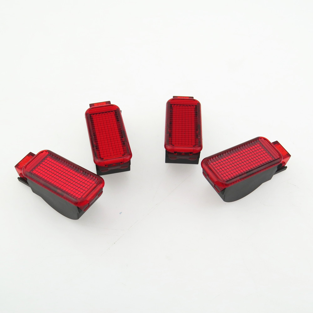 ZUCZUG 4Pcs Car Door Panel Interior Red Warning Light For A7 A3 A4 A5 A6 A7 A8 Q3 Q5 TT RS3 RS4 RS5 RSQ3 8KD947411 8KD 947 411