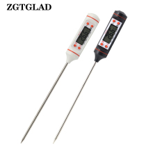 ZGTGLAD Digital Probe Meat Thermometer Kitchen Cooking BBQ Food Stainless Steel Foldable