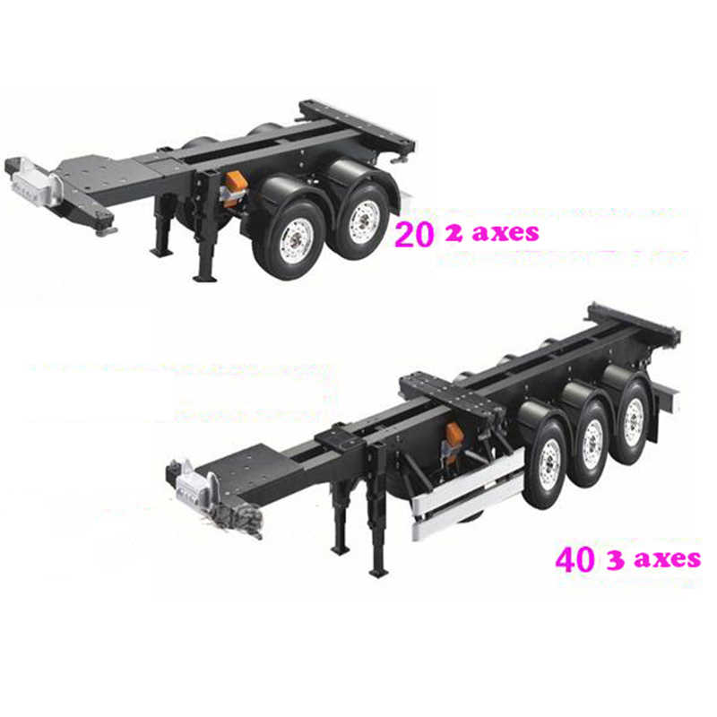 1/14 RC Tractor Truck Auto Onderdelen Accessoire 20FT 40FT Aluminium Frame Container trailer frame Kit Voor RC Tamiya Scania R620 actros