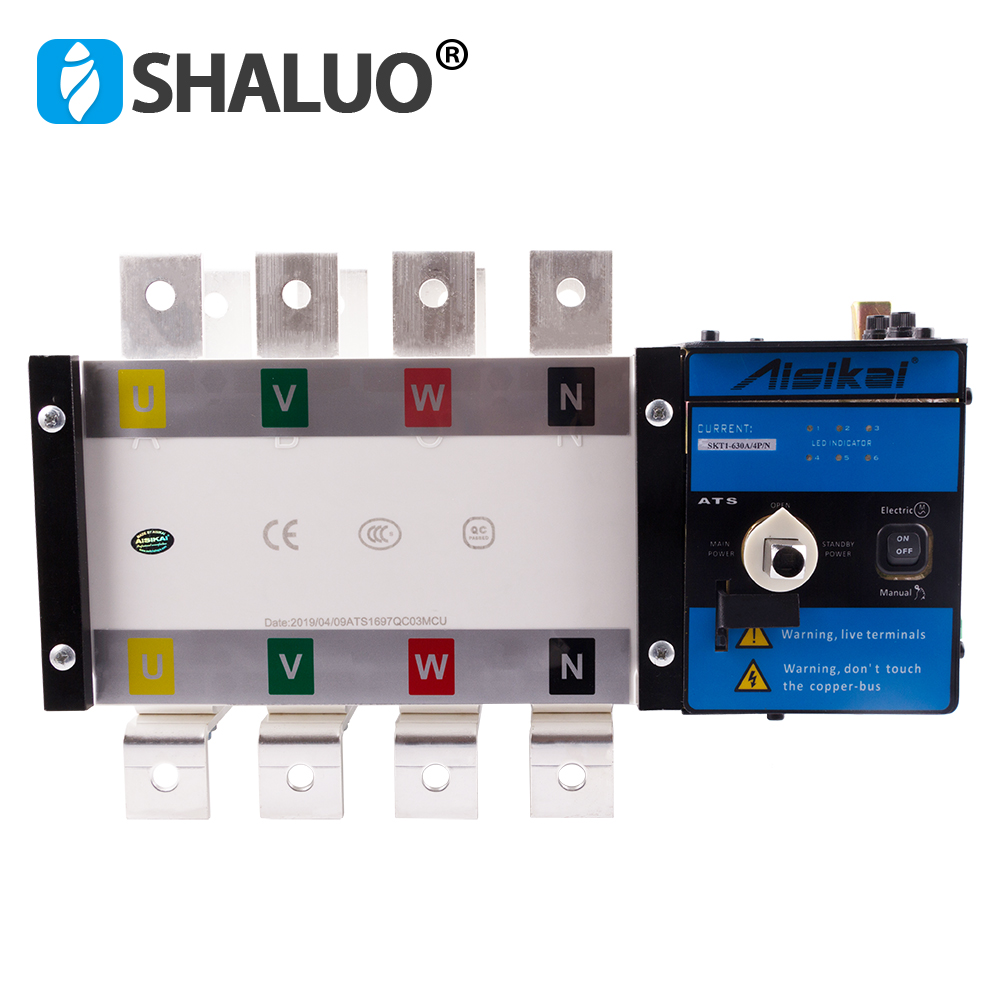 Ats 630a 4p Controller Automatic Transfer Switch manual three phase smartgen dual power ats panel for