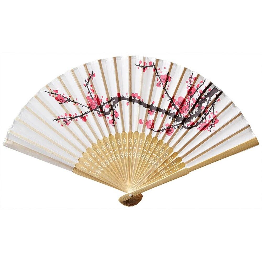 1Pc Summer Hand Paper Fans Decorations Pocket Folding Bamboo Fan ...