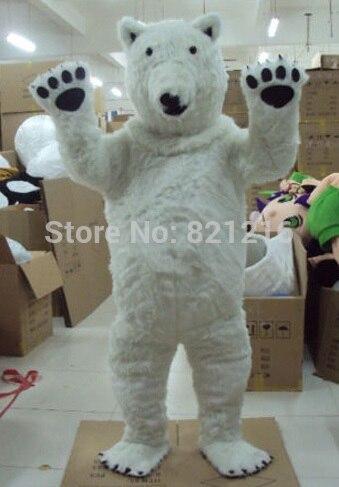 Nouveau Costume de mascotte ours polaire professionnel taille adulte