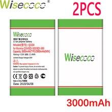 WISECOCO 2PCS 3000mAh Battery For Micromax Q334 Q 334 Phone