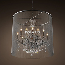 Modern Vintage Crystal Chandelier Lighting Rustic Candle Chandeliers Pendant Hanging Light for Home Hotel and Restaurant Decor