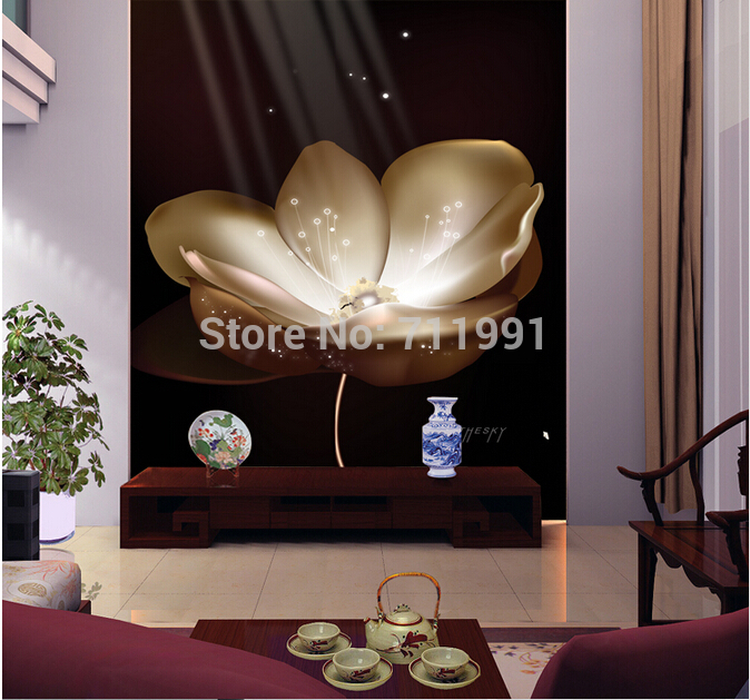 Free shipping custom- modern 3D mural TV living room sofa backdrop meeting room hotel bedroom wallpaper white lotus free shipping custom murals purple and orange galaxy wallpaper mural bedroom living room tv backdrop wallpaper