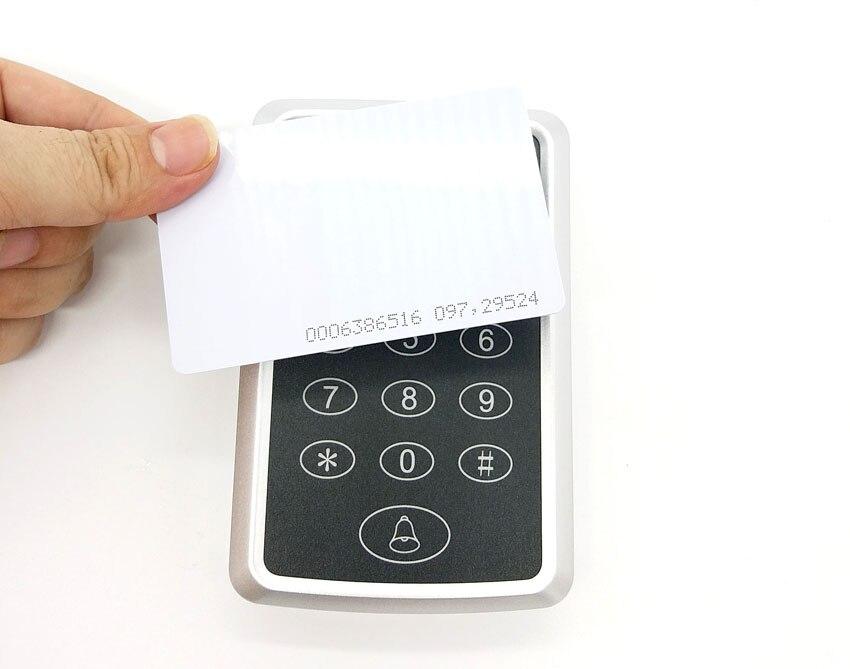 125 кГц 12В DC RFID считыватель дверей мини-клавиатура бесконтактная идентификационная система контроля доступа EM4100/TK4100 карточка контроля досту...