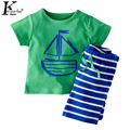 KEAIYOUHUO 2017 Summer Girls Clothes Set Short Sleeve Children Clothing Boys Sprot Suit Baby Outfit Suit Costume For Kids 2Piece